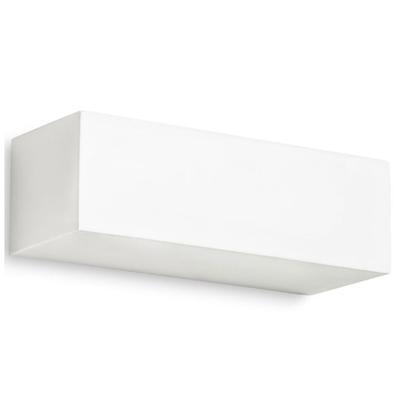 White Plaster Rectangular Box Wall Light